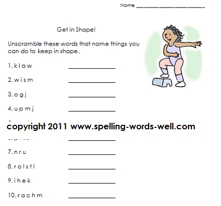 1st Grade Action Words Worksheet http://www.spelling-words-well.com/first-grade-language-arts-worksheets.html