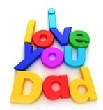 magnetic letters - I Love You Dad