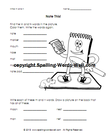Free Phonics Printables for Beginning Sounds