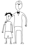 simple drawing of two people