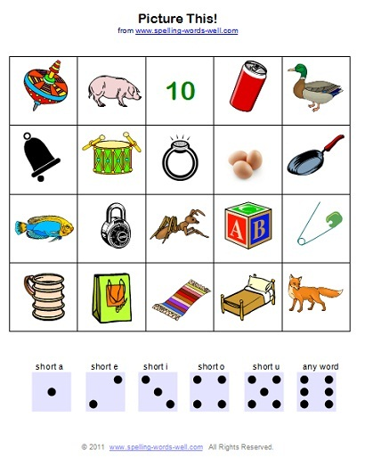 phonic games picture game board