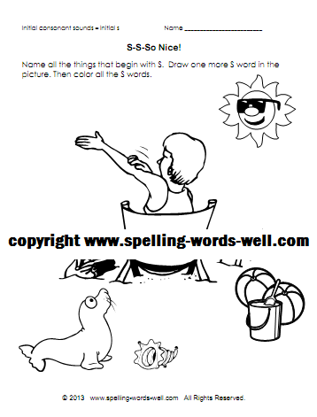 phonics coloring pages S
