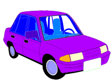 cartoon purple car