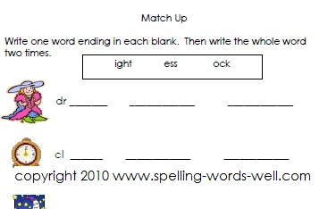 second grade worksheets - word endings