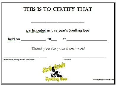 spelling bee certificates source http tromana com tag spelling bee ...