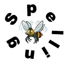 bee inside the letters SPELLING