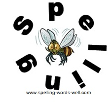spelling bee clipart - bee in circle