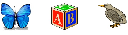 Objects Starting with Letter B http://www.spelling-words-well.com/preschool-computer-games.html