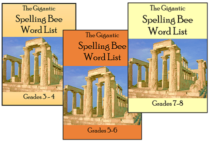 Gigantic Spelling Bee Word Lists