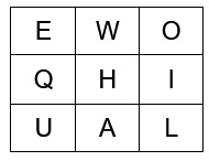 3 x 3 word square