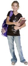5th grade girl carrying books