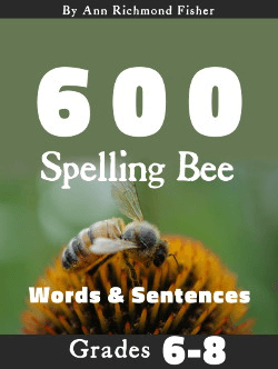 600 Spelling Bee Words & Sentences