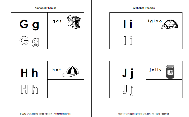 alphabet phonics booklet pages