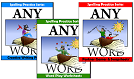 AnyWord Spelling Practice eBooks, 3 volumes