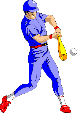 Baseball batter, from our Baseball Spelling Game at www.spelling-words-well.com