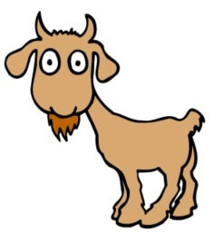Cartoony brown goat