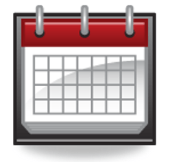 Red and gray calendar