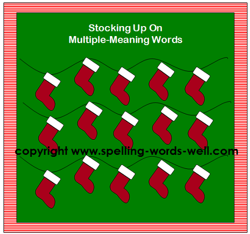 Christmas stocking bulletin board