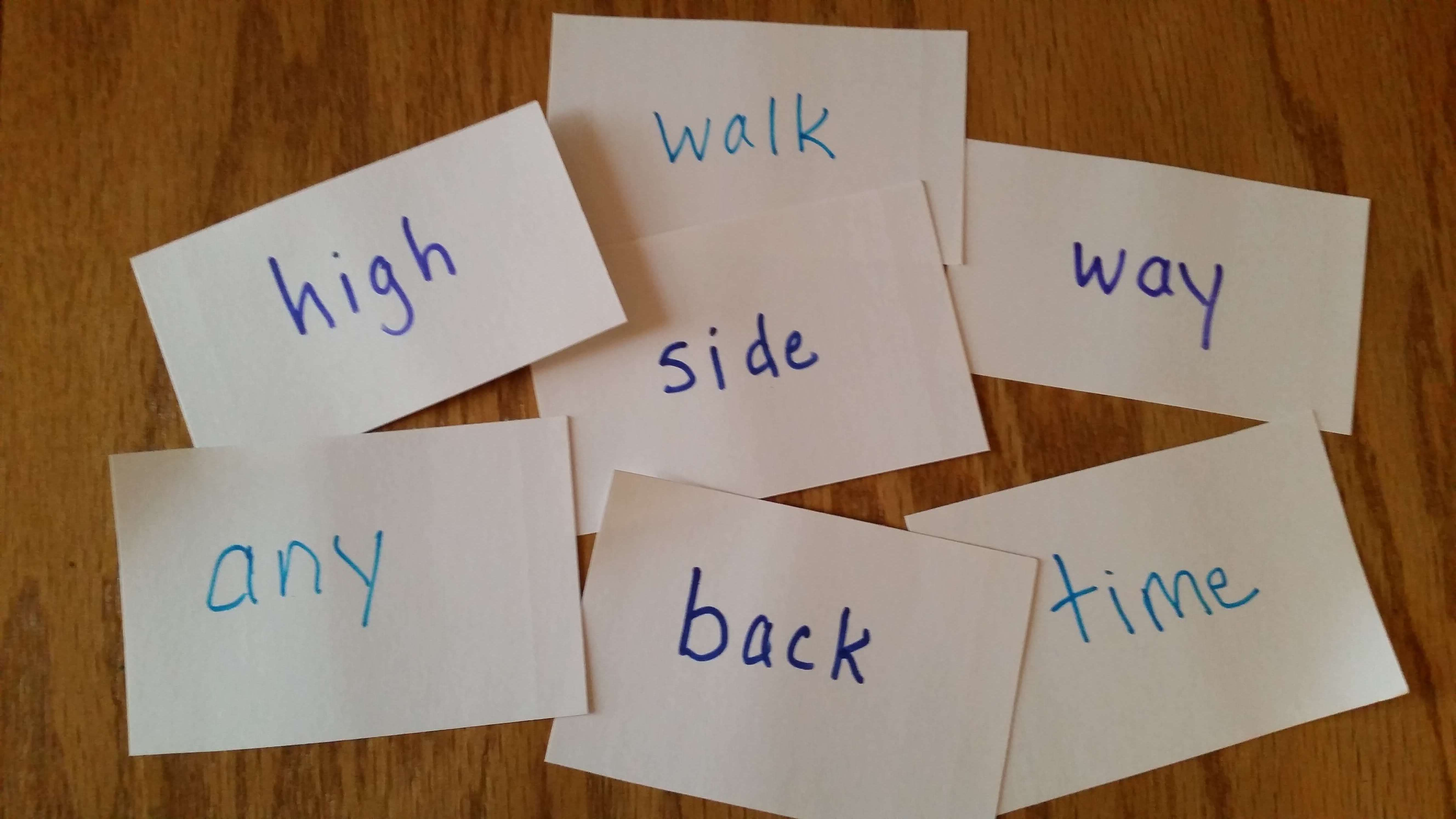 compound word part cards