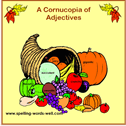 Cornucopia of Adjectives bulletin board