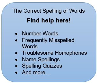 Correct spelling of words -where to find help