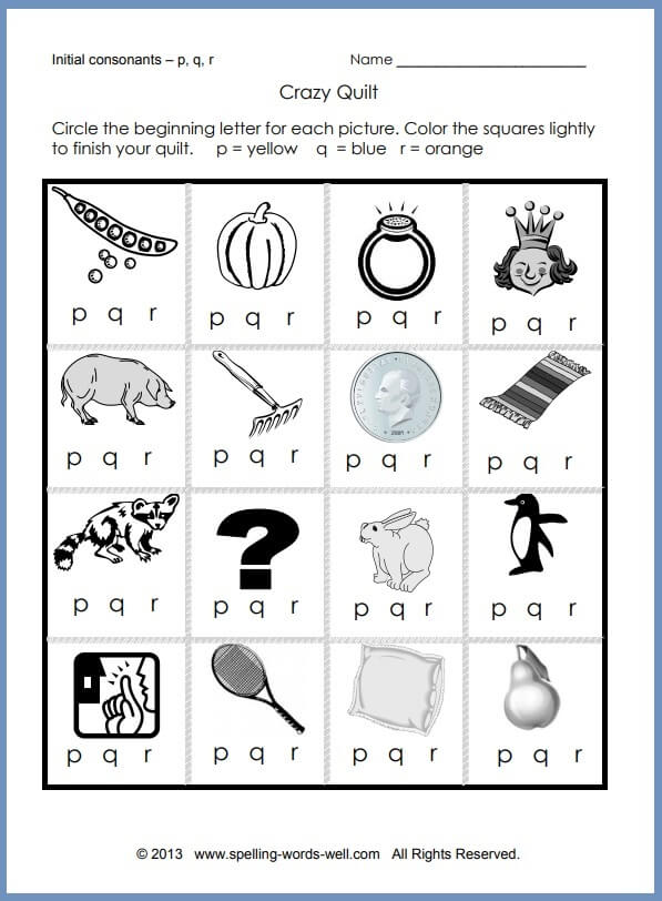 Printable Phonics Worksheets For Early Learners