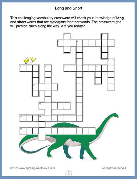 Crossword Express: The Long and Short Puzzler