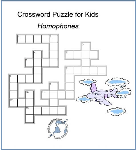 Crossword Puzzle For Kids Diagram