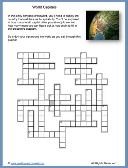 graphic regarding Worlds Hardest Crossword Puzzle Printable identify Crossword Puzzles in direction of Print at Property or inside of the Clroom