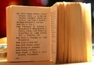 old dictionary, open
