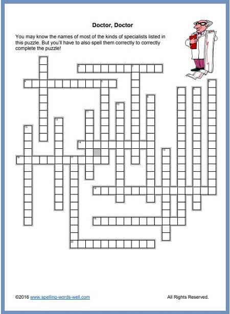 Free Crossword Puzzles For Upper Grades Adults