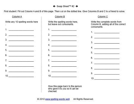 Printables Spelling Practice Worksheets elementary worksheets for fun spelling practice whats the best part about using our swap possible answers include