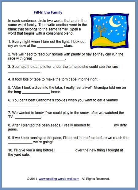 Worksheets For 2nd Grade Spelling Practice