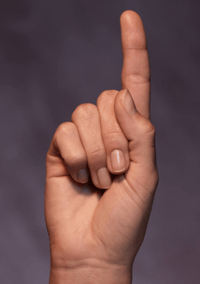 a raised finger