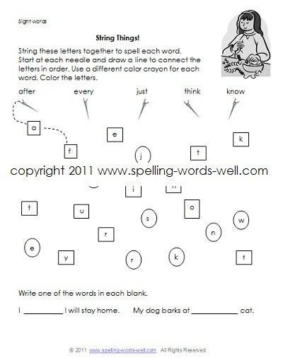 First Grade Homework Worksheets
