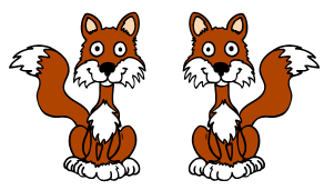 pair of cute foxes