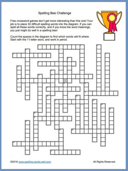 Free Crossword Games to Challenge You! on