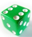 green playing die