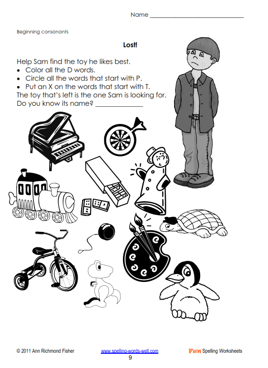 Fun Spelling Worksheet,