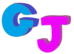 the letters G and J