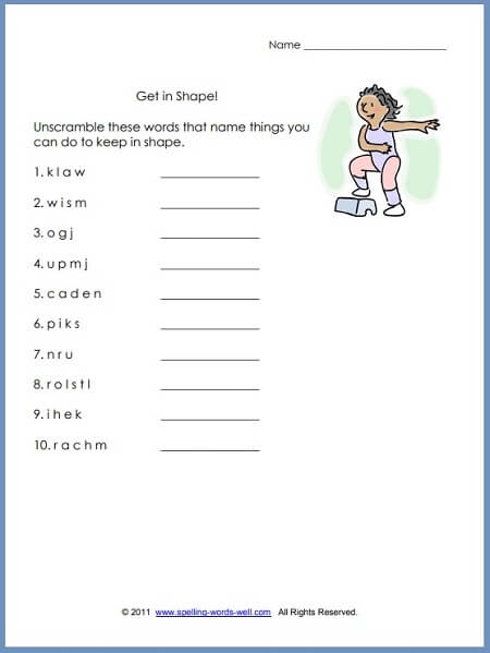 First Grade Language Arts Worksheets