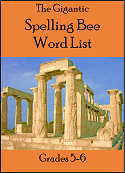 Gigantic Spelling Bee Word List for grades 5-6
