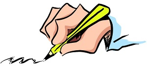 a hand, writing with a pencil