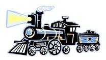 Steam locomotive from our kids word scramble game called,