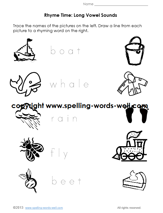 Kindergarten Phonics Worksheets – Long Vowel Worksheets for Kindergarten