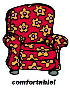 big easy chair labelled