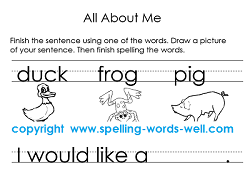 Literacy Worksheet: All About Me