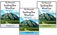 Mammoth Spelling Bee Word Lists - 3 eBooks