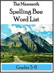 Mammoth Spelling Bee Word Lists