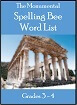Monumental Spelling Bee Word List